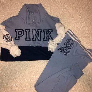 Quarter zip and skinny joggers set